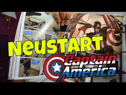 Captain America Video Titelbild zum Comic Neustart