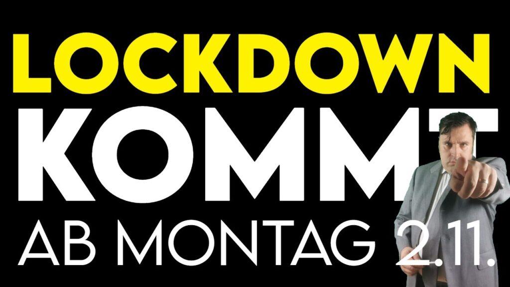 Deutschland:Corona Lockdown kommt ab 2.11.