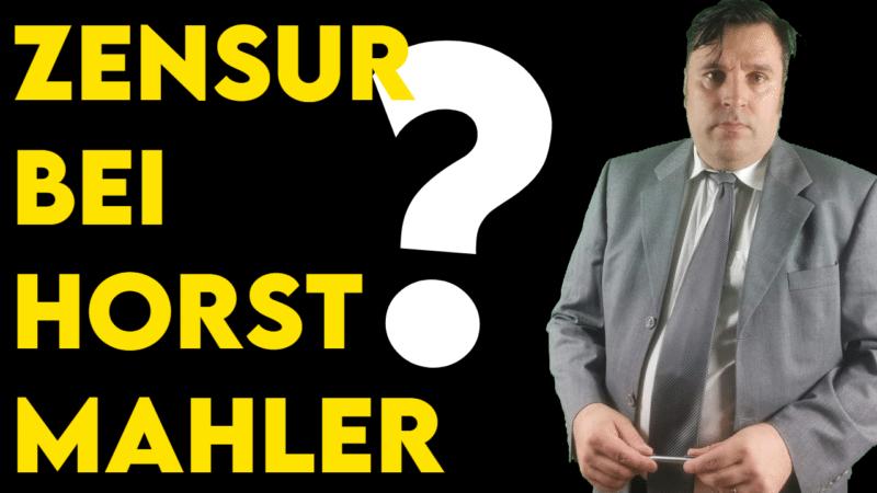 Zensur bei Horst Mahler Symbolbild